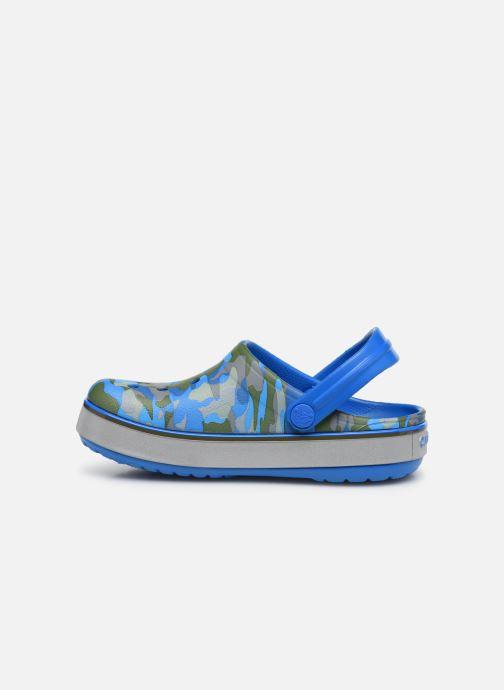 Sandales et nu-pieds Crocs Crocband Clog K Bright Bleu vue face