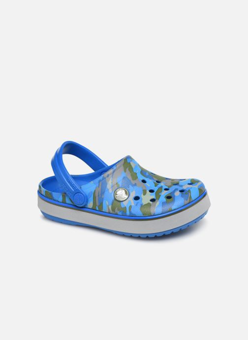 Sandales et nu-pieds Crocs Crocband Clog K Bright Bleu vue détail/paire