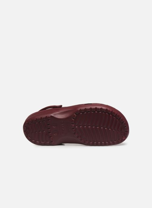 Sandals Crocs Classic M Burgundy view from above
