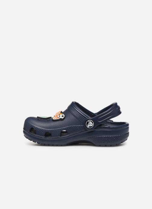 Sandalias Crocs Classic Chrome Clog K Azul vista de frente