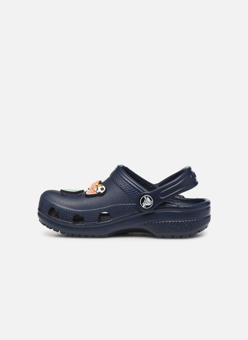 Sandalen Crocs Classic Chrome Clog K Blauw voorkant