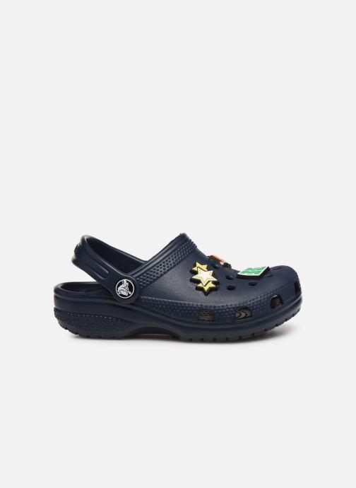 Sandalias Crocs Classic Chrome Clog K Azul vistra trasera