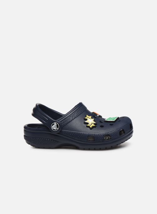 Sandalen Crocs Classic Chrome Clog K Blauw achterkant