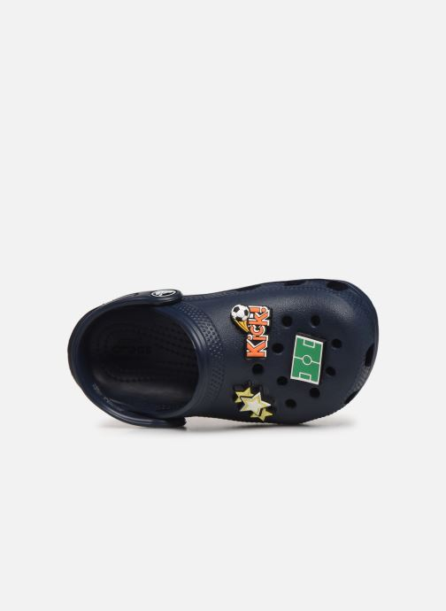 Sandales et nu-pieds Crocs Classic Chrome Clog K Bleu vue gauche