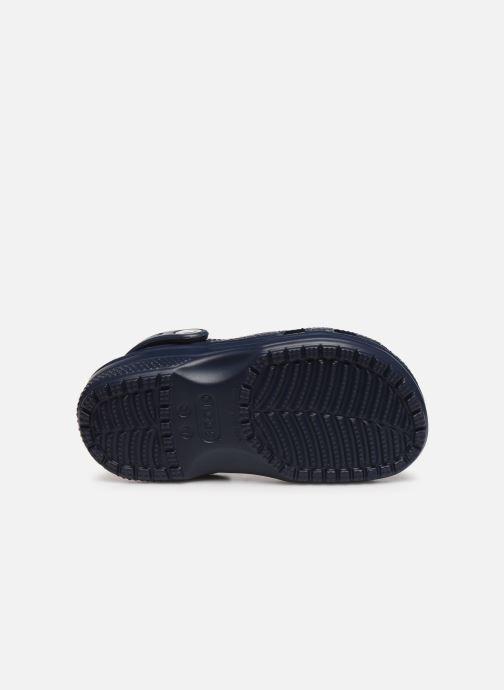 Sandales et nu-pieds Crocs Classic Chrome Clog K Bleu vue haut