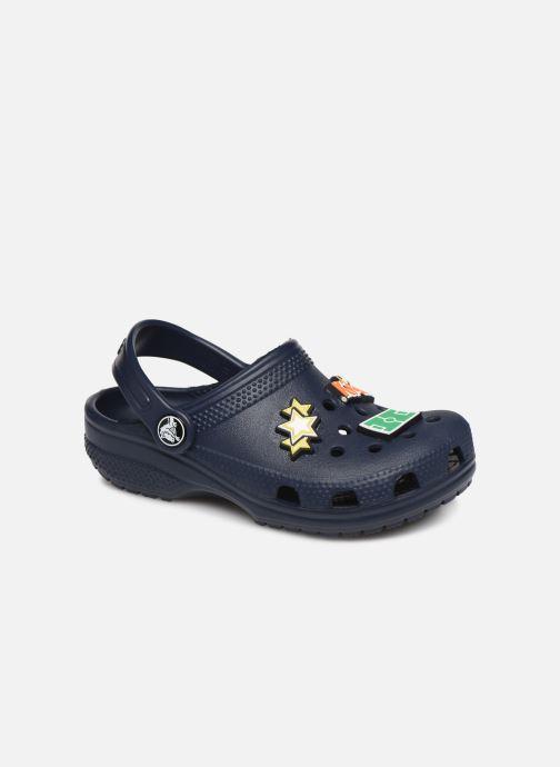 Sandales et nu-pieds Crocs Classic Chrome Clog K Bleu vue détail/paire
