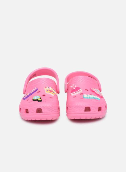 Sandales et nu-pieds Crocs Classic Chrome Clog K Rose vue 3/4