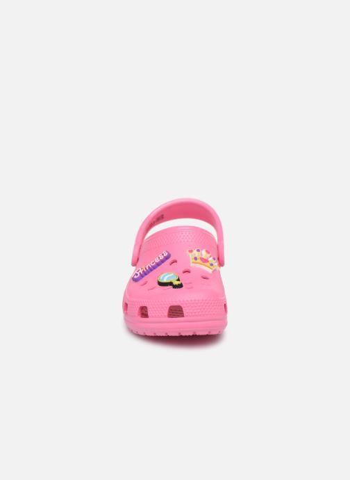 Sandales et nu-pieds Crocs Classic Chrome Clog K Rose vue portées chaussures