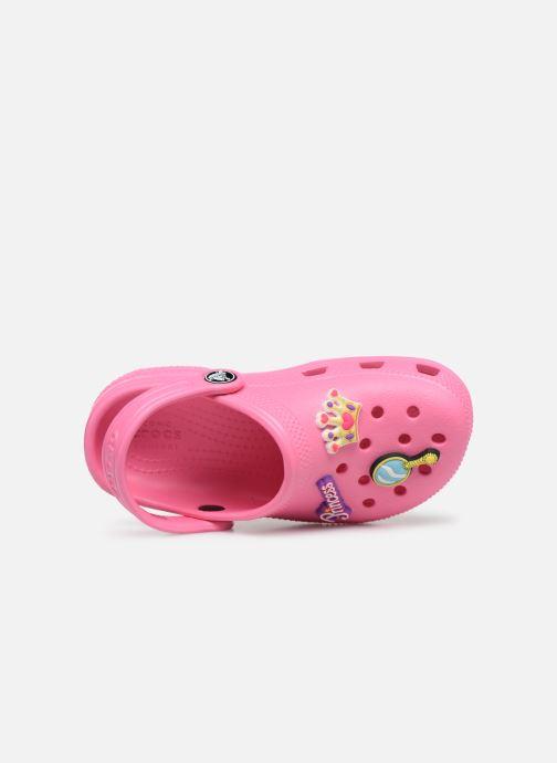 Sandali e scarpe aperte Crocs Classic Chrome Clog K Rosa immagine sinistra