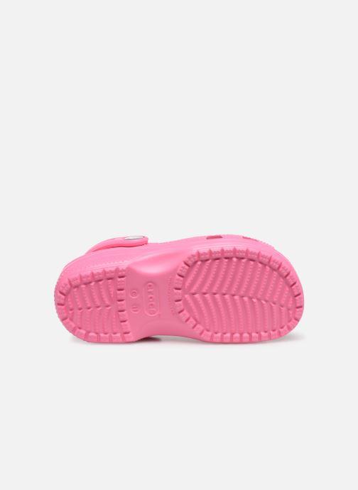 Sandales et nu-pieds Crocs Classic Chrome Clog K Rose vue haut