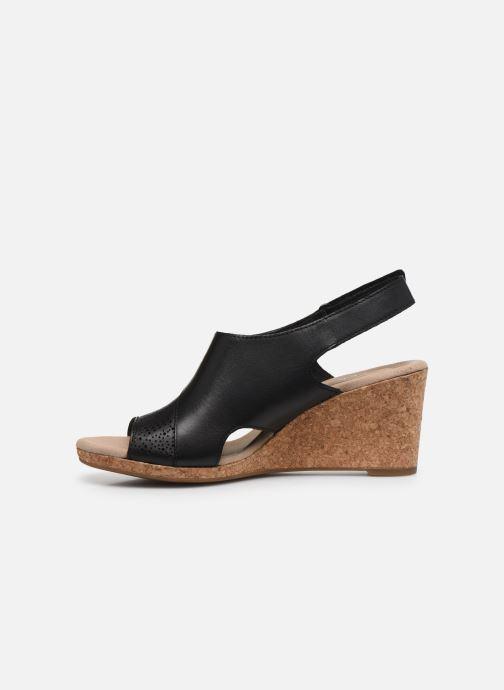 Sandales et nu-pieds Clarks Lafley Joy Noir vue face