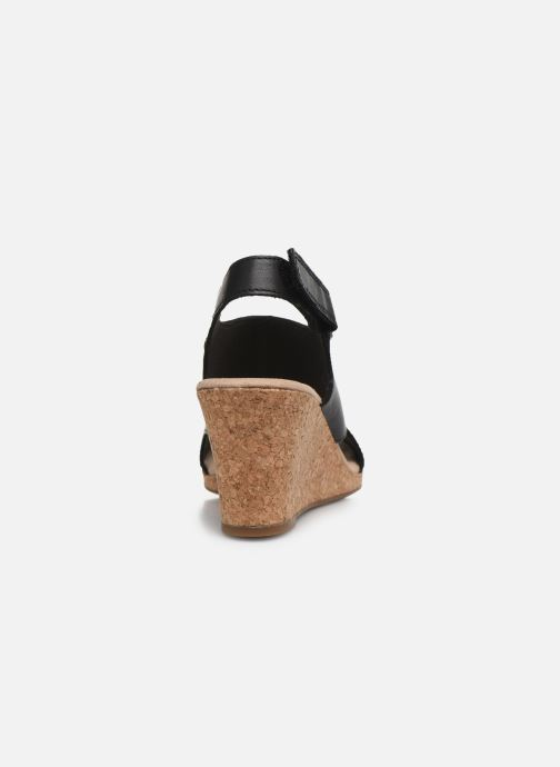 Sandales et nu-pieds Clarks Lafley Joy Noir vue droite