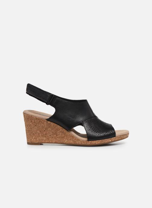 Sandales et nu-pieds Clarks Lafley Joy Noir vue derrière