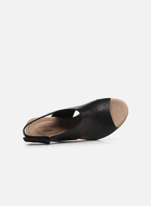 Sandales et nu-pieds Clarks Lafley Joy Noir vue gauche