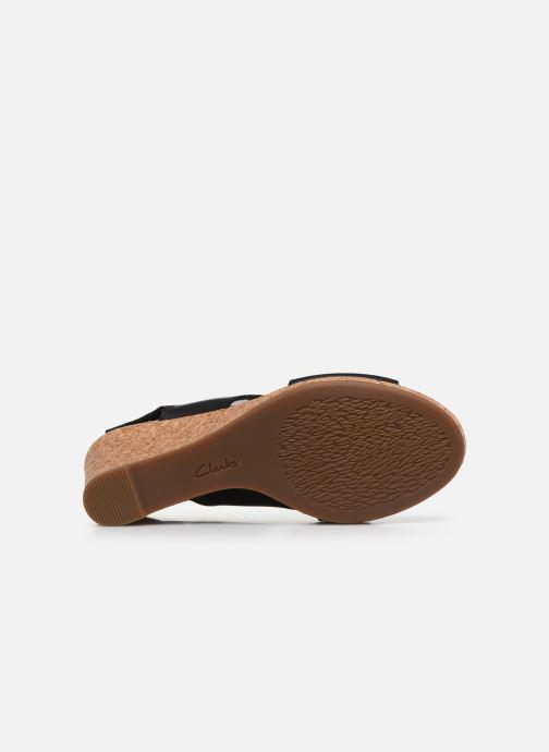 Sandales et nu-pieds Clarks Lafley Joy Noir vue haut