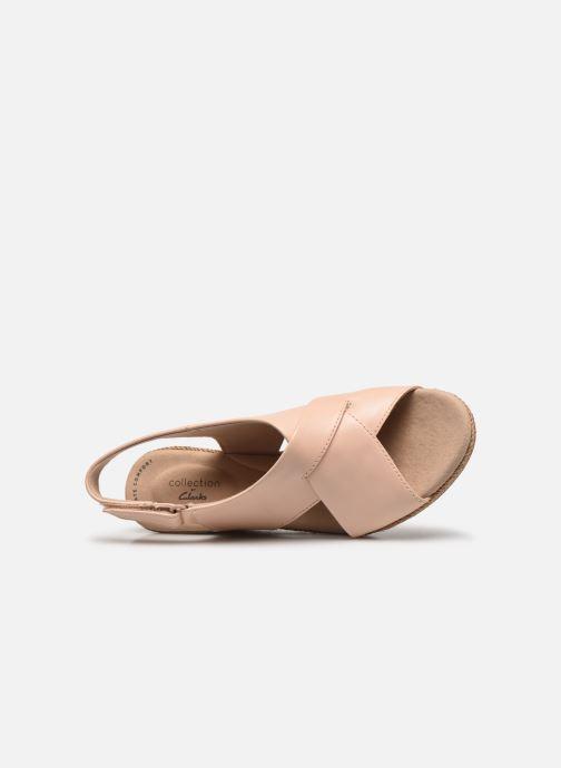Sandali e scarpe aperte Clarks Lafley Alaine Rosa immagine sinistra