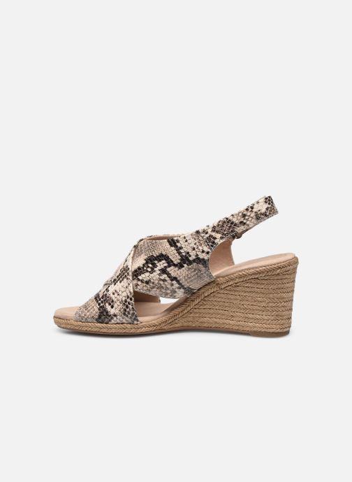 Sandales et nu-pieds Clarks Lafley Alaine Beige vue face