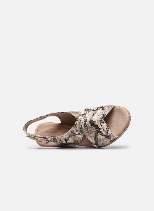 Sandales et nu-pieds Clarks Lafley Alaine Beige vue gauche