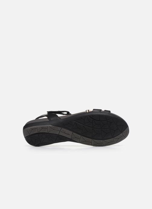 Sandales et nu-pieds Clarks Tealite Grace Noir vue haut