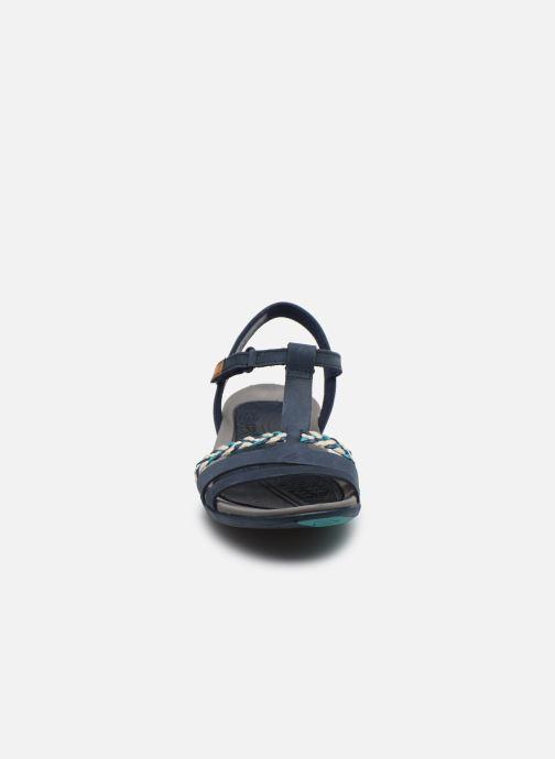 Sandales et nu-pieds Clarks Tealite Grace Bleu vue portées chaussures