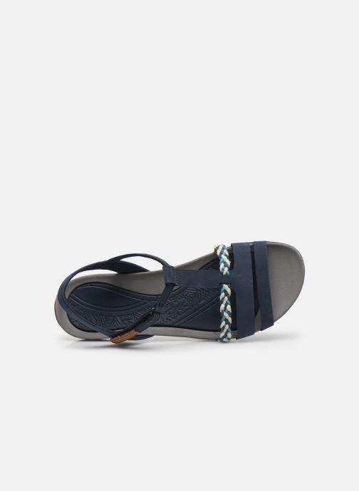 Sandales et nu-pieds Clarks Tealite Grace Bleu vue gauche