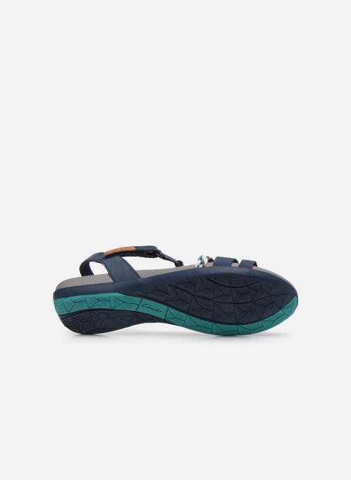 Sandales et nu-pieds Clarks Tealite Grace Bleu vue haut