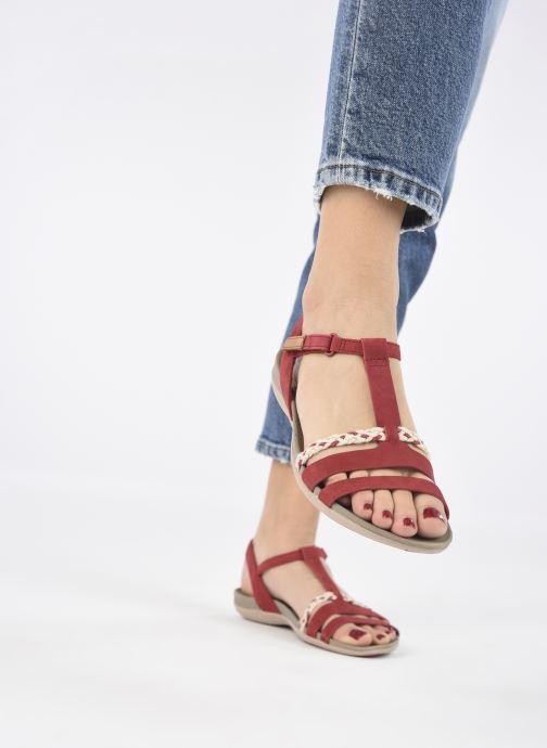 Sandalen Clarks Tealite Grace rot ansicht von unten / tasche getragen