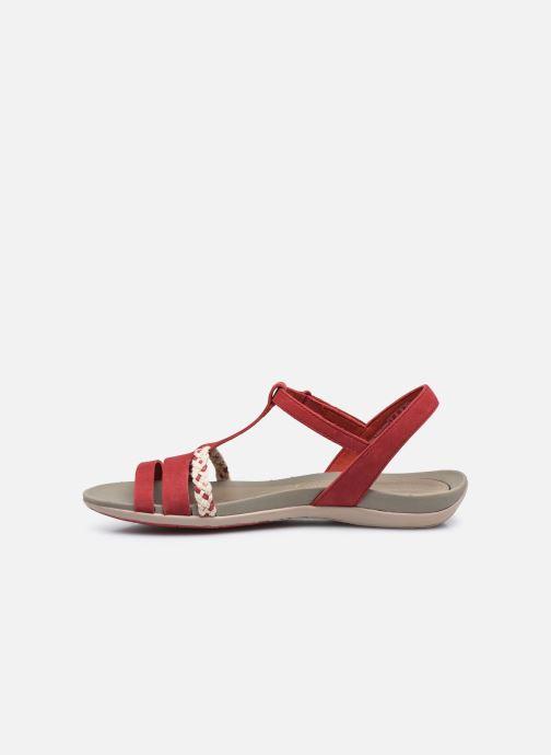 Sandalen Clarks Tealite Grace rot ansicht von vorne