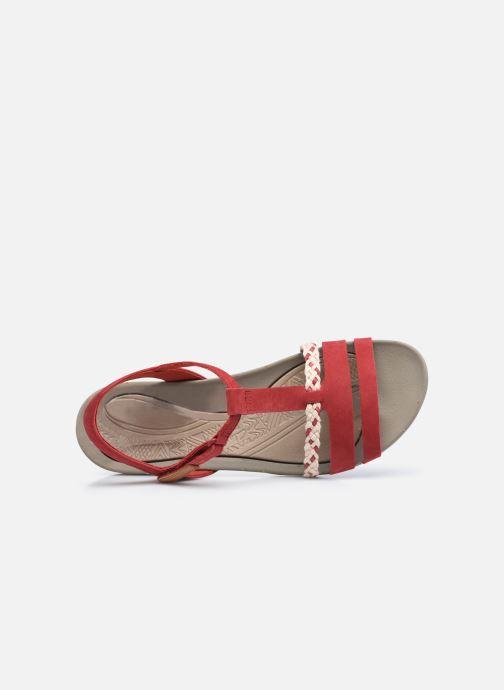 Sandalen Clarks Tealite Grace rot ansicht von links