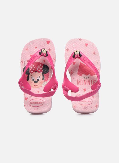 Sandalias Havaianas Baby Disney Classics 2 Rosa vista del modelo