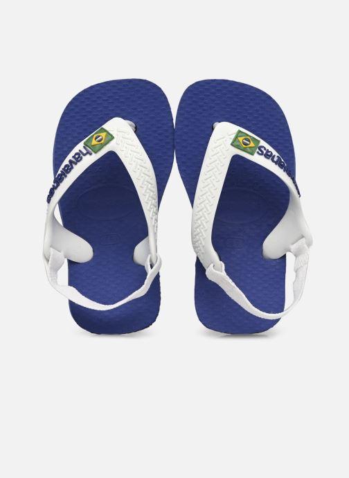 Chanclas Havaianas Baby Brasil Logo 2 Azul vista de detalle / par