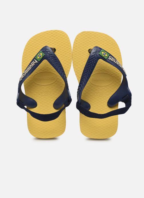 Zehensandalen Havaianas Baby Brasil Logo 2 gelb detaillierte ansicht/modell