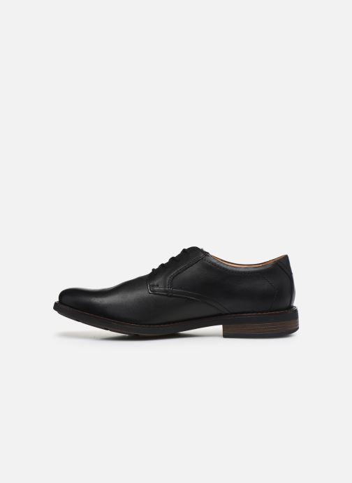 Zapatos con cordones Clarks Becken Lace Negro vista de frente