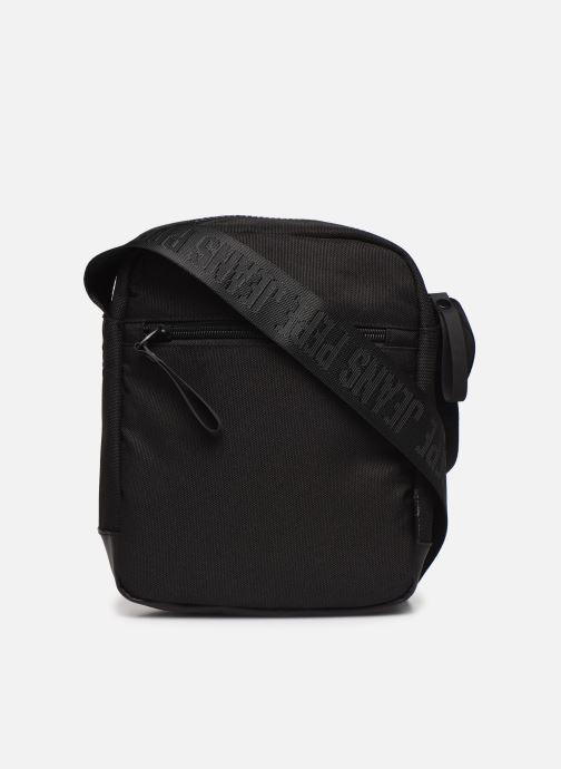 Herrentaschen Pepe jeans Camp Medium Shoulder Bag schwarz ansicht von vorne