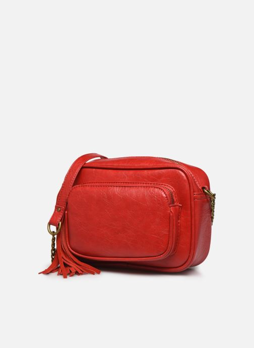 Sacs à main Pepe jeans Moira Bag Rouge vue portées chaussures