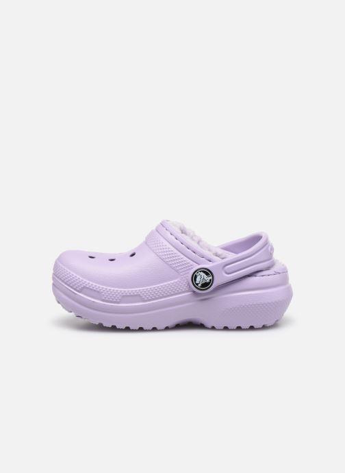 Sandales et nu-pieds Crocs Classic Lined clog K Violet vue face