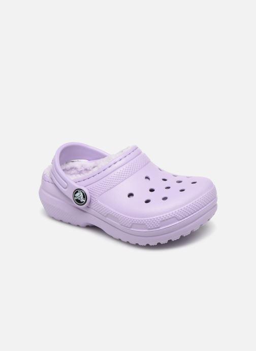 Sandales et nu-pieds Crocs Classic Lined clog K Violet vue détail/paire