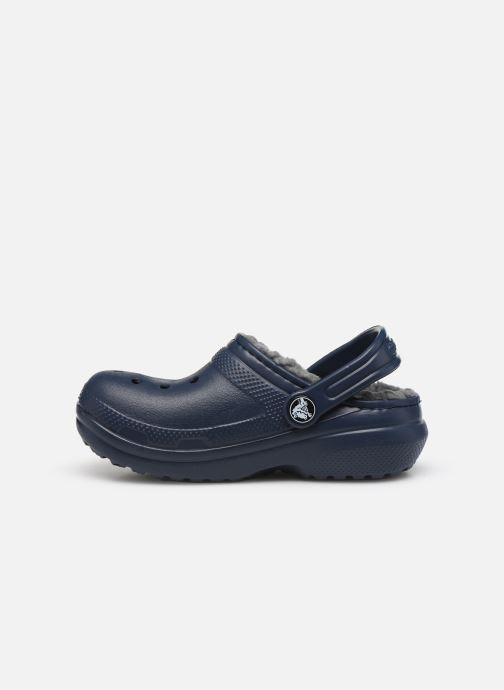 Sandalias Crocs Classic Lined clog K Azul vista de frente