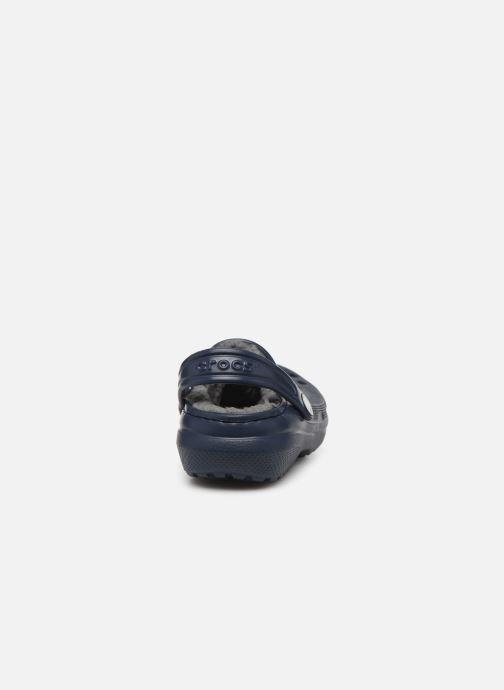 Sandalias Crocs Classic Lined clog K Azul vista lateral derecha