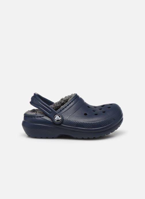 Sandalias Crocs Classic Lined clog K Azul vistra trasera