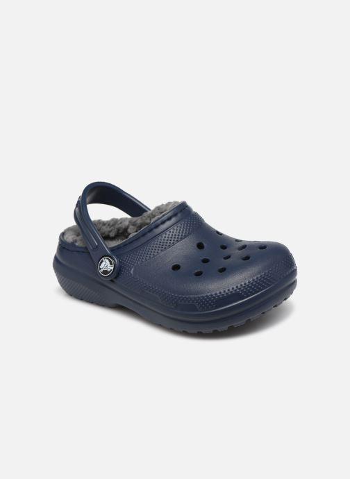 Sandalias Crocs Classic Lined clog K Azul vista de detalle / par