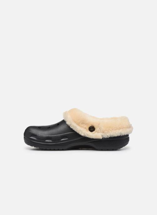 Sandalias Crocs Classic Mammoth Luxe Clogs Negro vista de frente