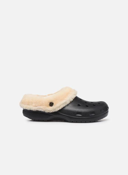 Sandalias Crocs Classic Mammoth Luxe Clogs Negro vistra trasera