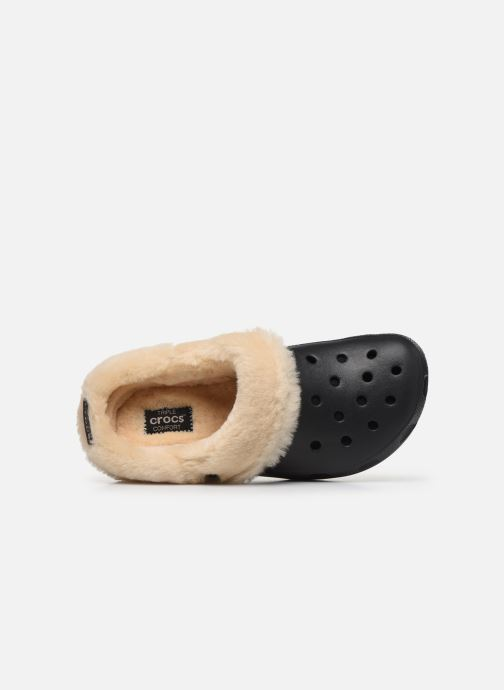 Sandali e scarpe aperte Crocs Classic Mammoth Luxe Clogs Nero immagine sinistra