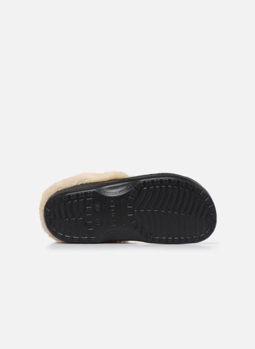 Sandalias Crocs Classic Mammoth Luxe Clogs Negro vista de arriba