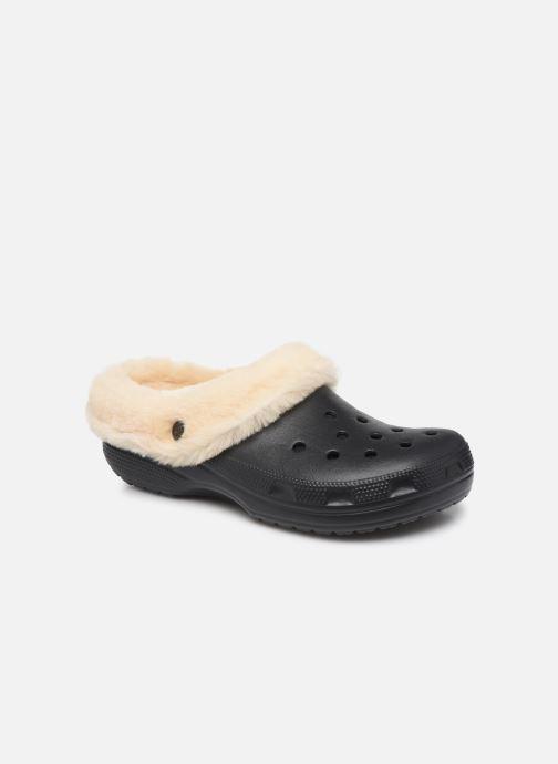 Sandalias Crocs Classic Mammoth Luxe Clogs Negro vista de detalle / par
