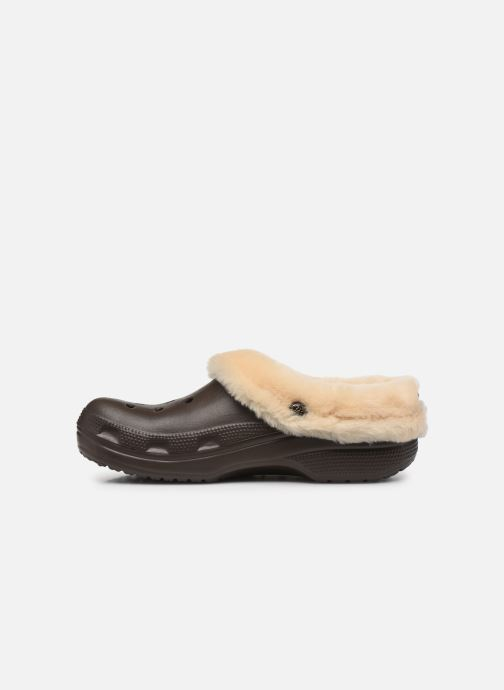 Sandals Crocs Classic Mammoth Luxe Clogs Brown front view