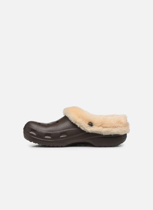 Sandalias Crocs Classic Mammoth Luxe Clogs Marrón vista de frente