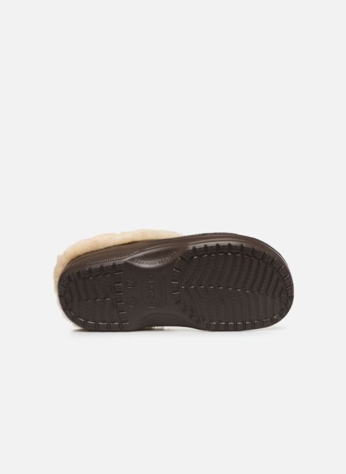 Sandals Crocs Classic Mammoth Luxe Clogs Brown view from above