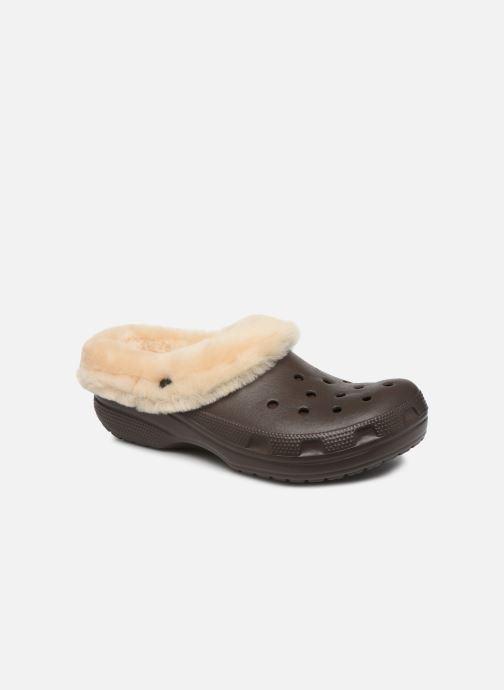 Sandalias Crocs Classic Mammoth Luxe Clogs Marrón vista de detalle / par